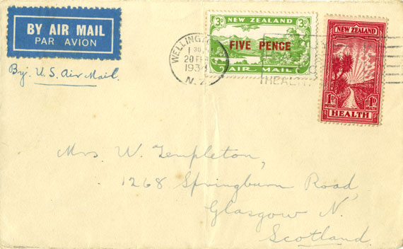 Connection to US and Canadian Airmail